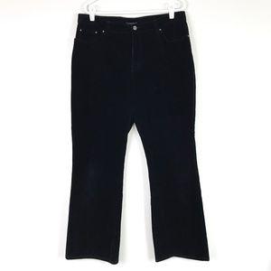Jones New York Black Stretch Corduroy Pants Sz 16